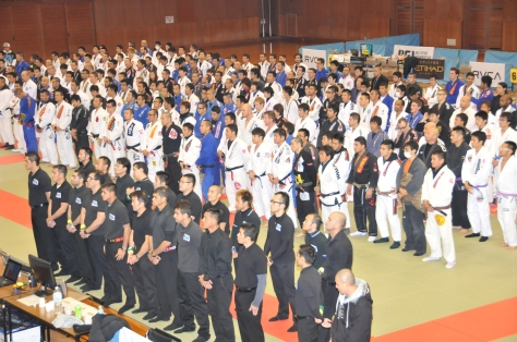 Rickson Gracie Cup Nagoya JJFJ 2013 no Aichi Budokan, no distrito de Minato, em Nagoia.