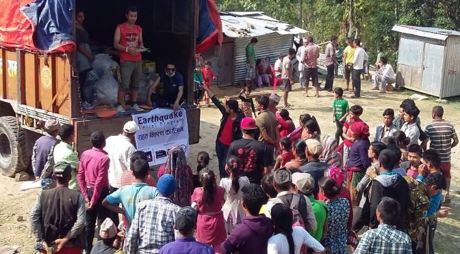 Solidariedade ao Nepal no Japão